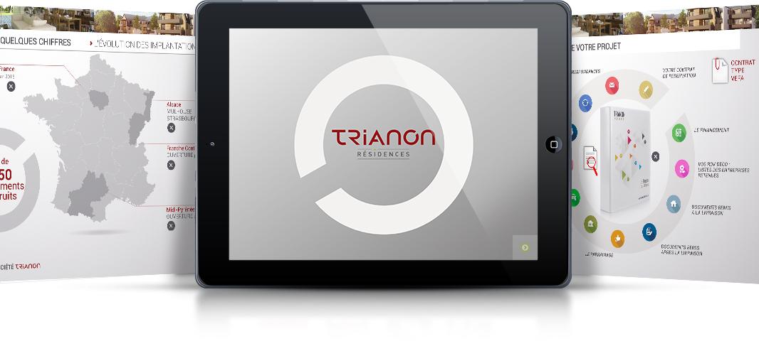 Trianon présentation commerciale sur tablettes tactiles